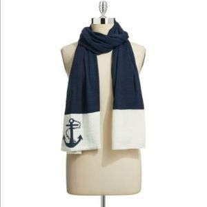 New Ralph Lauren nautical anchor color block scarf